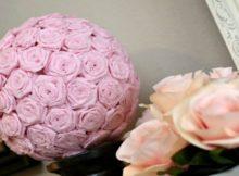 DIY Paper Flower Bouquet Floral Kissing Ball