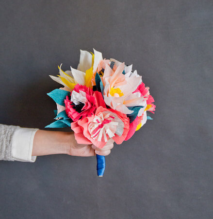DIY Paper Flower Bouquet by Oh Happy Day
