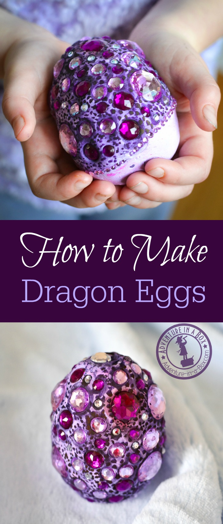 Make your own treasure! Jeweled dragon eggs, even the kids can make them.