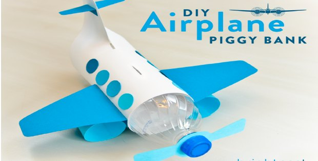 Airplane Piggy Bank