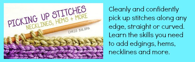Picking Up Stitches Necklines, Hems & More - Crafting News
