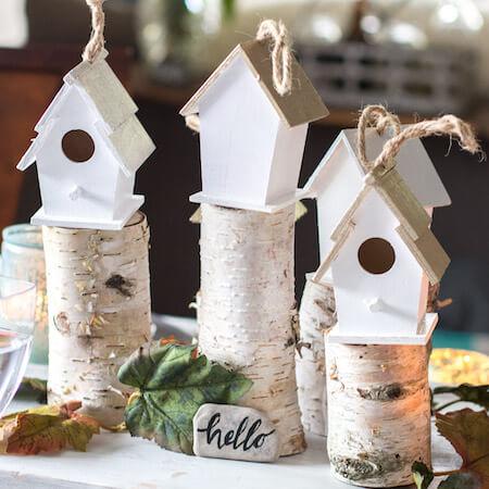 a birdhouse village