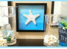 Baking soda dough works really well for a coastal look and the star fish are really pretty. I've been inspired to make more coastal decor using this baking soda dough idea.
