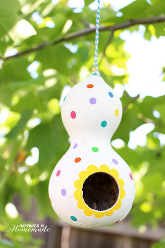 DIY Gourd Birdhouse by Happiness Is Homemade