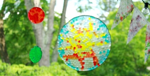 Melted Bead Suncatchers