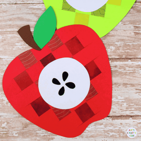 Paper Apple Weaving Craft by Arty Crafty Kids