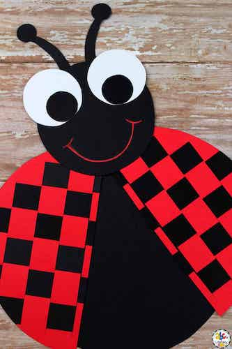 Ladybug Craft Paper Weaving for Kids by ABC's Of Literacy