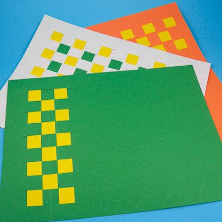 Paper Weaving Placemat by Aunt Annie'c Crafts