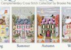 4 Seasons Cross Stitch Houses