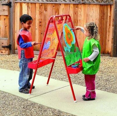 Colorations - 2WAPE 2-Way Adjustable Acrylic Panel Kids Easel