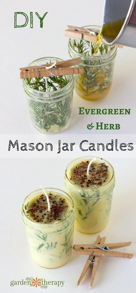 How to make your own herb candles.