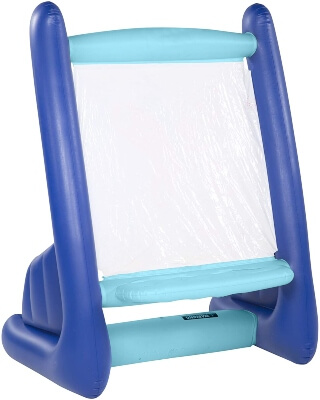 HearthSong Heavy-Duty Vinyl Inflatable Indoor and Outdoor Easel for Kids