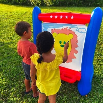 SHANI Heavy-Duty Vinyl Inflatable Easel for Kids 2