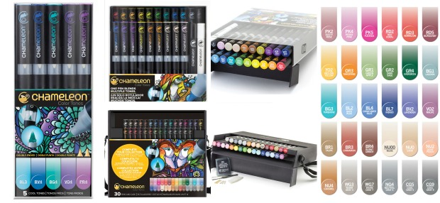 Chameleon coloring pens. A revolution in coloring with gradable colors all in the same pen for expert coloring.