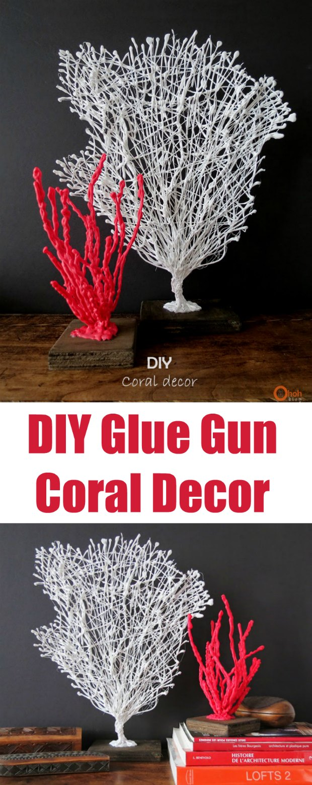 I had no idea this would be so easy to make. It looks fab! DIY Coral sculptures made with some wire and a glue gun