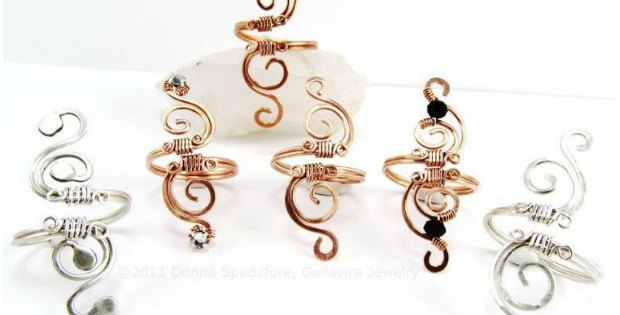 DIY Wire Wrapped Ring - Swirly Adjustable Rings