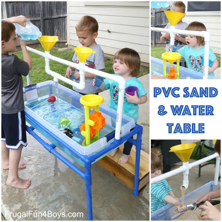 DIY Kids PVC Pipe Sand and Water Tables