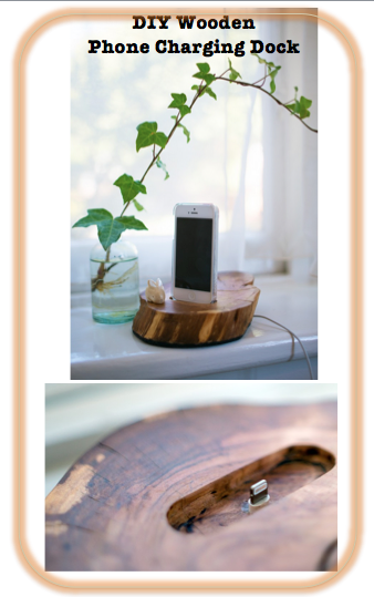 DIY Wooden Charging Dock - Phone Charging Station