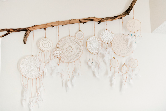 diy doily dream catcher craft home decor