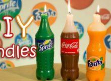diy soft drink bottle candles