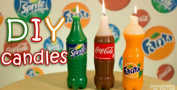 diy soft drink bottle candles