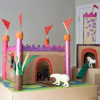 How To Make A Cardboard Castle by Artful Parent