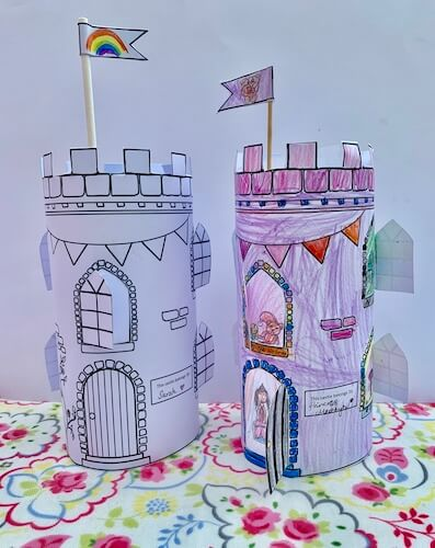 Printable Castle Activity by Make Time Together