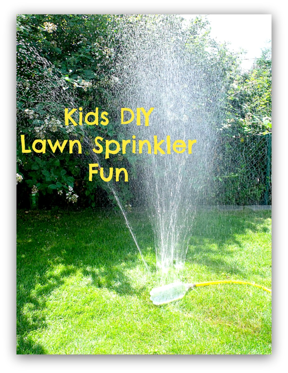 Kids DIY Lawn Sprinkler Fun Summer Craft