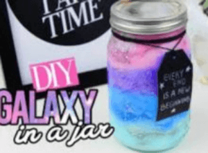 DIY Nebula Jar Galaxy