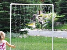 Make A Kids Sprinkler For Some Summer Yard Fun