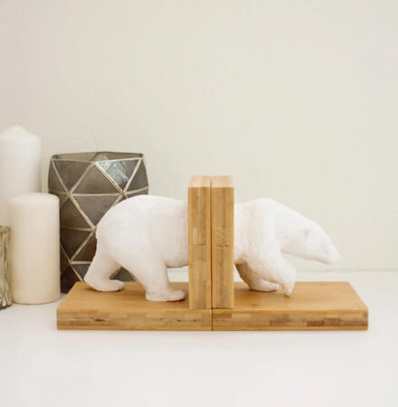 DIY Faux Ceramic Animal Bookends by Lovely Indeed