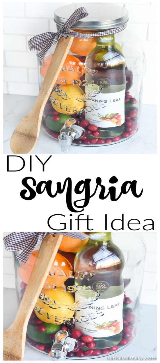 DIY Sangria Gift Basket Idea - An Easy Gift To Wow Your Friends