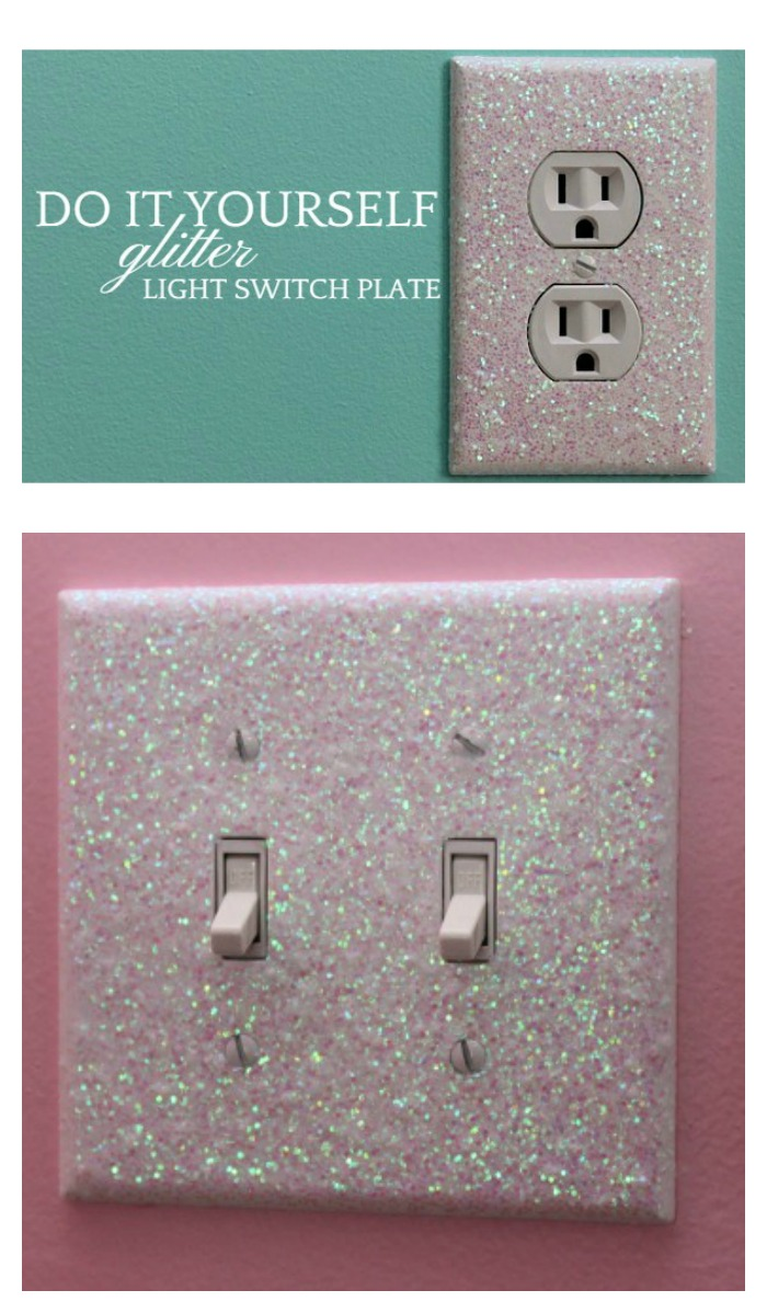 Decorative Light Switch Covers Free Glittery Tutorial