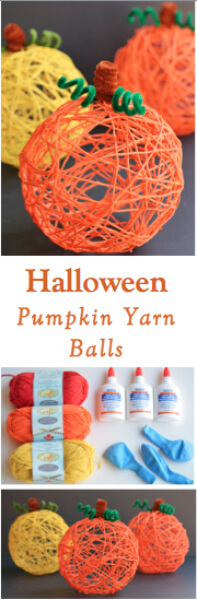How To Make Decorative Halloween Pumpkin Yarn Balls