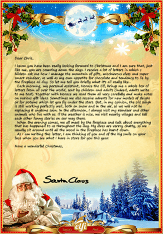 Free Santa letter template printable