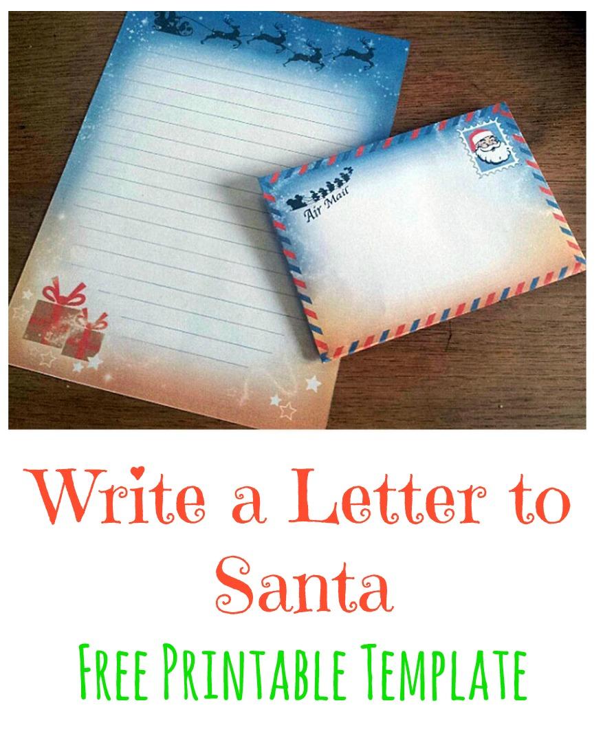 Letter From Santa Envelope Template  MaggiLocustdesignCo
