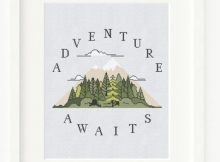 Adventure Cross Stitch Pattern - Perfect For Cross Stitch Beginners