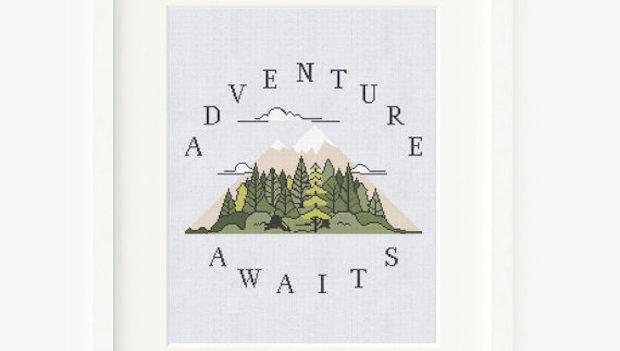 Adventure Cross Stitch Pattern - Perfect For Cross Stitch Beginners
