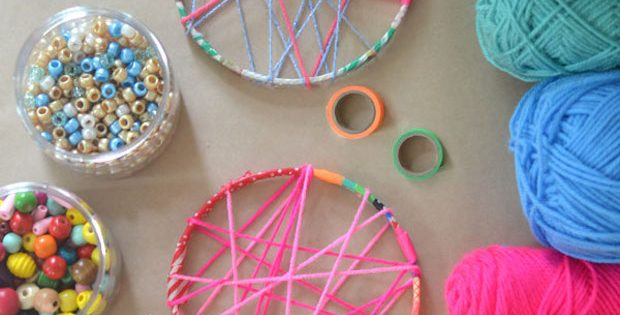 DIY Dreamcatcher For Kids - Kids Crafts