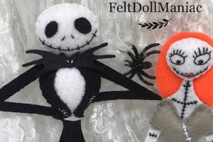 DIY Halloween Dolls - Felt Pattern