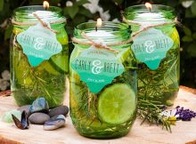 Mason Jar Citronella Candles DIY