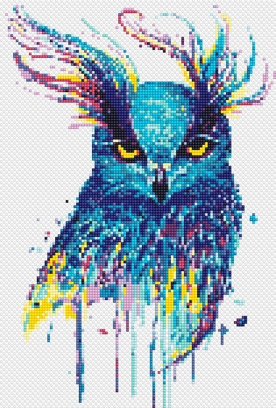 Owl Cross Stitch Pattern Beautiful Stitch Art CraftingNews Gorgeous Cool Cross Stitch Patterns