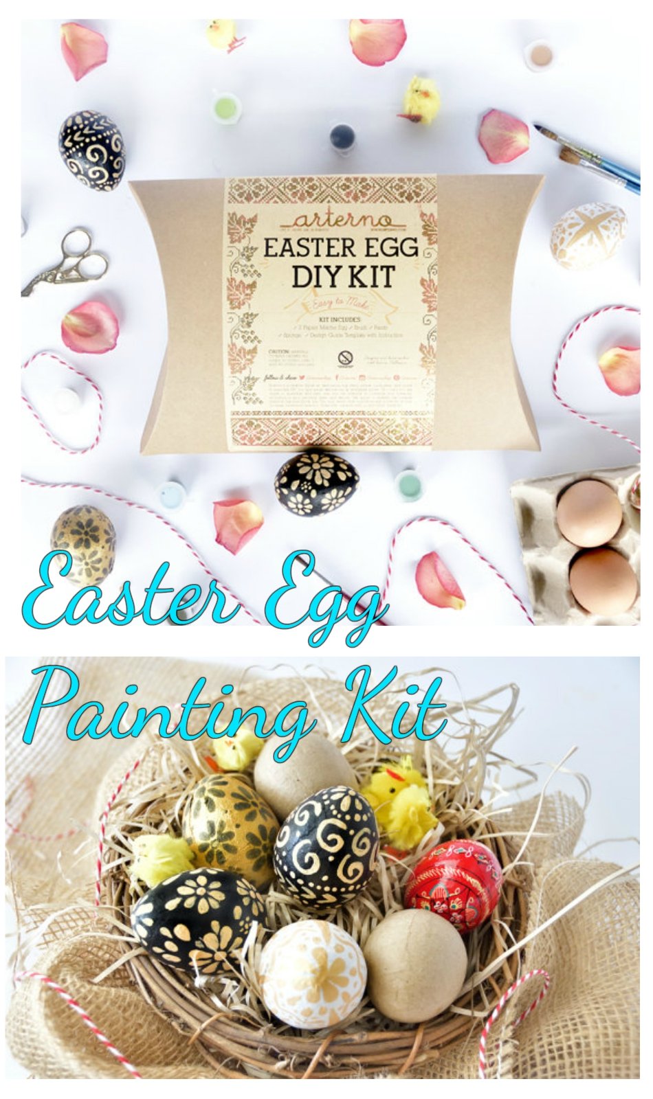 Easter Egg Painting Kit Family Fun - Kids Crafts