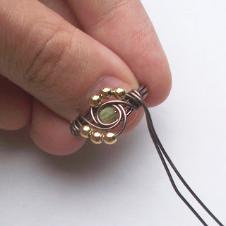 DIY Jewellery - How To Make Wire Wrapped Rings With Stones