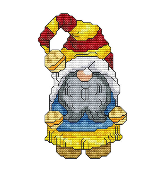 Christmas Elves Cross Stitch Pattern - Christmas Crafts