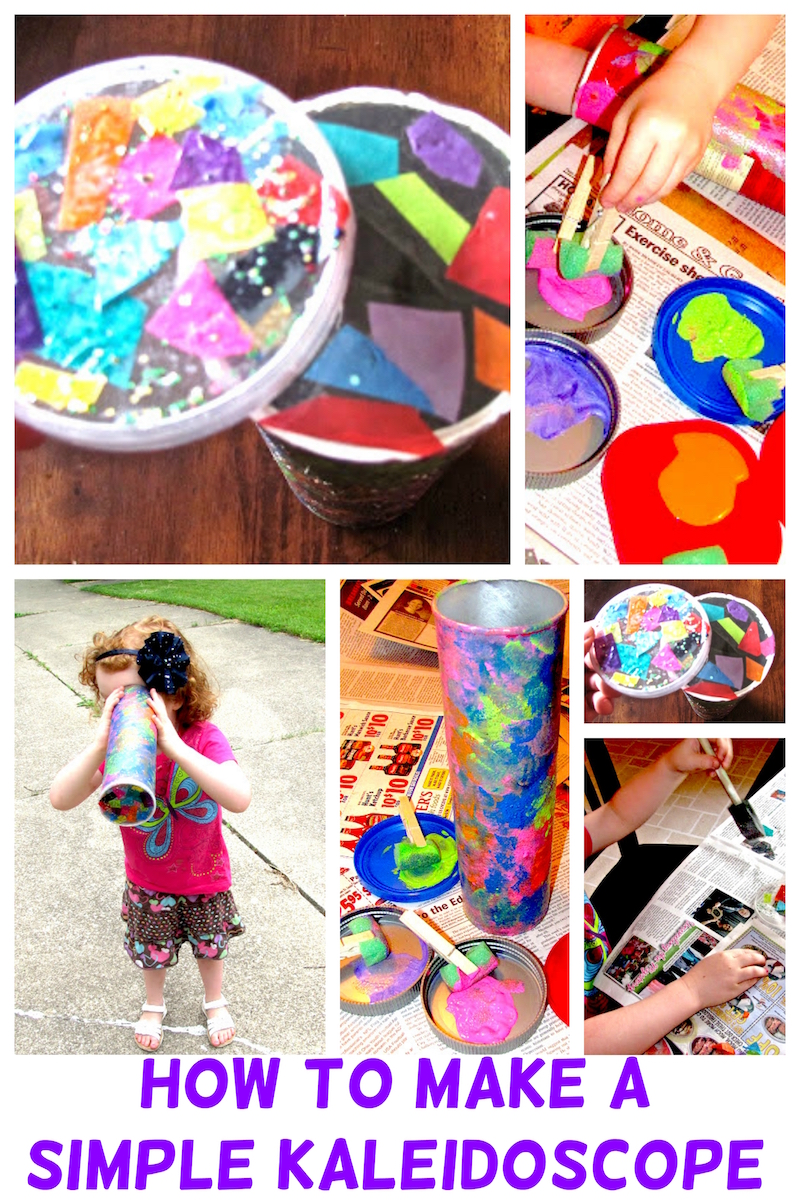How To Make A Simple Kaleidoscope - DIY Kids Crafts