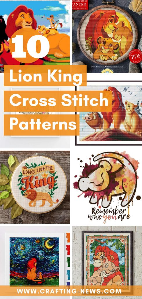 10 Lion King Cross Stitch Patterns