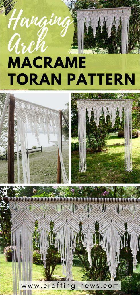 Hanging Arch Macrame Toran Pattern