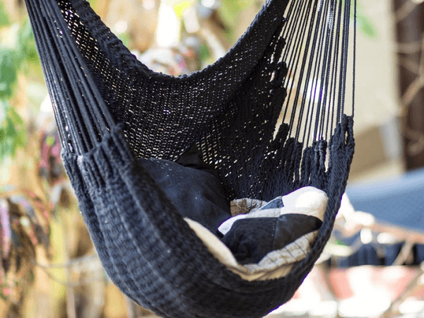 Black Macrame Cotton Swing Chair From Nica Original