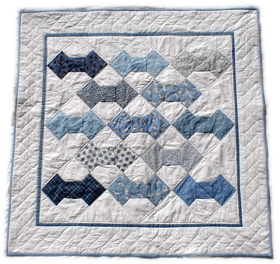 Bow Tie Quilt Pattern by Blackberry Quilts